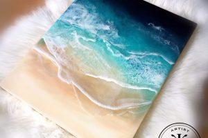 Ocean Resin art