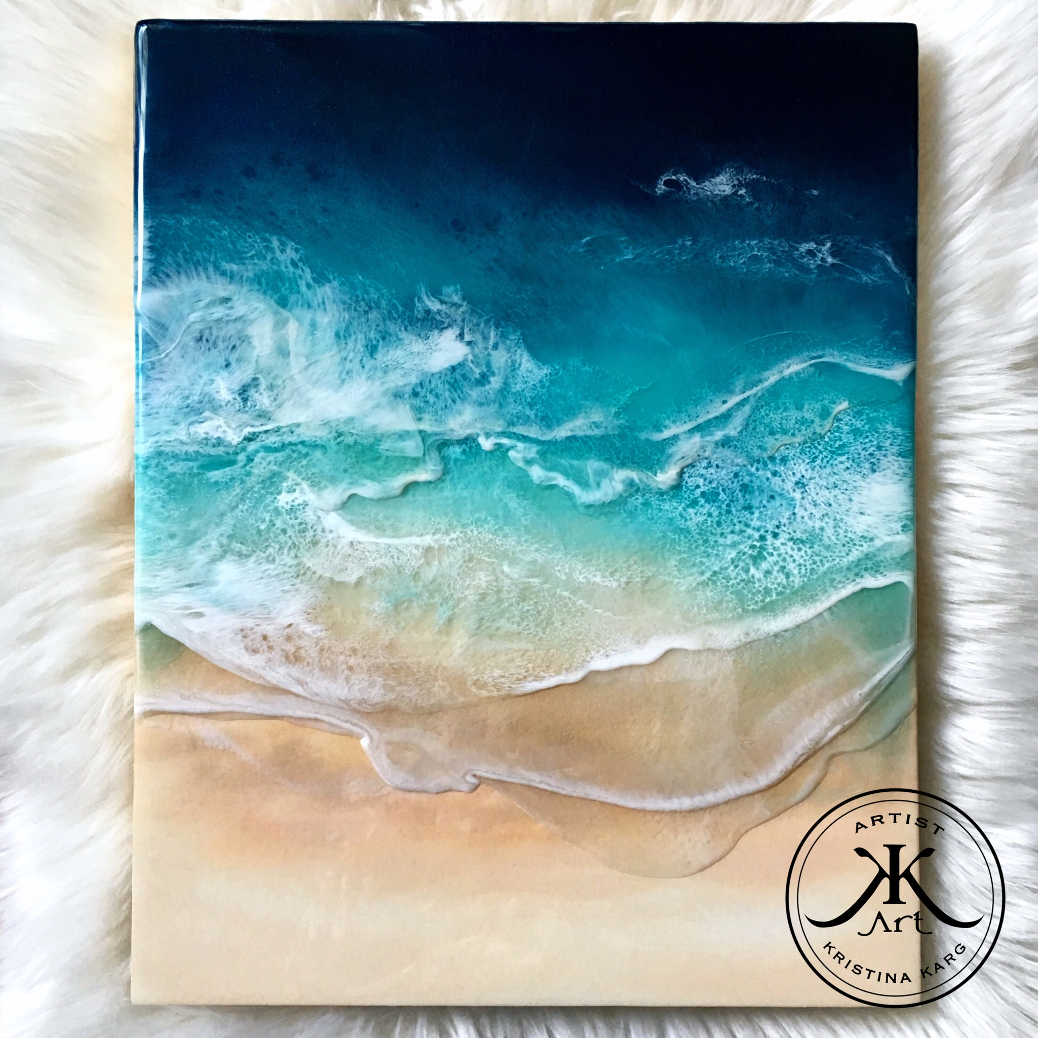 Ocean Resin Art Kristina Karg