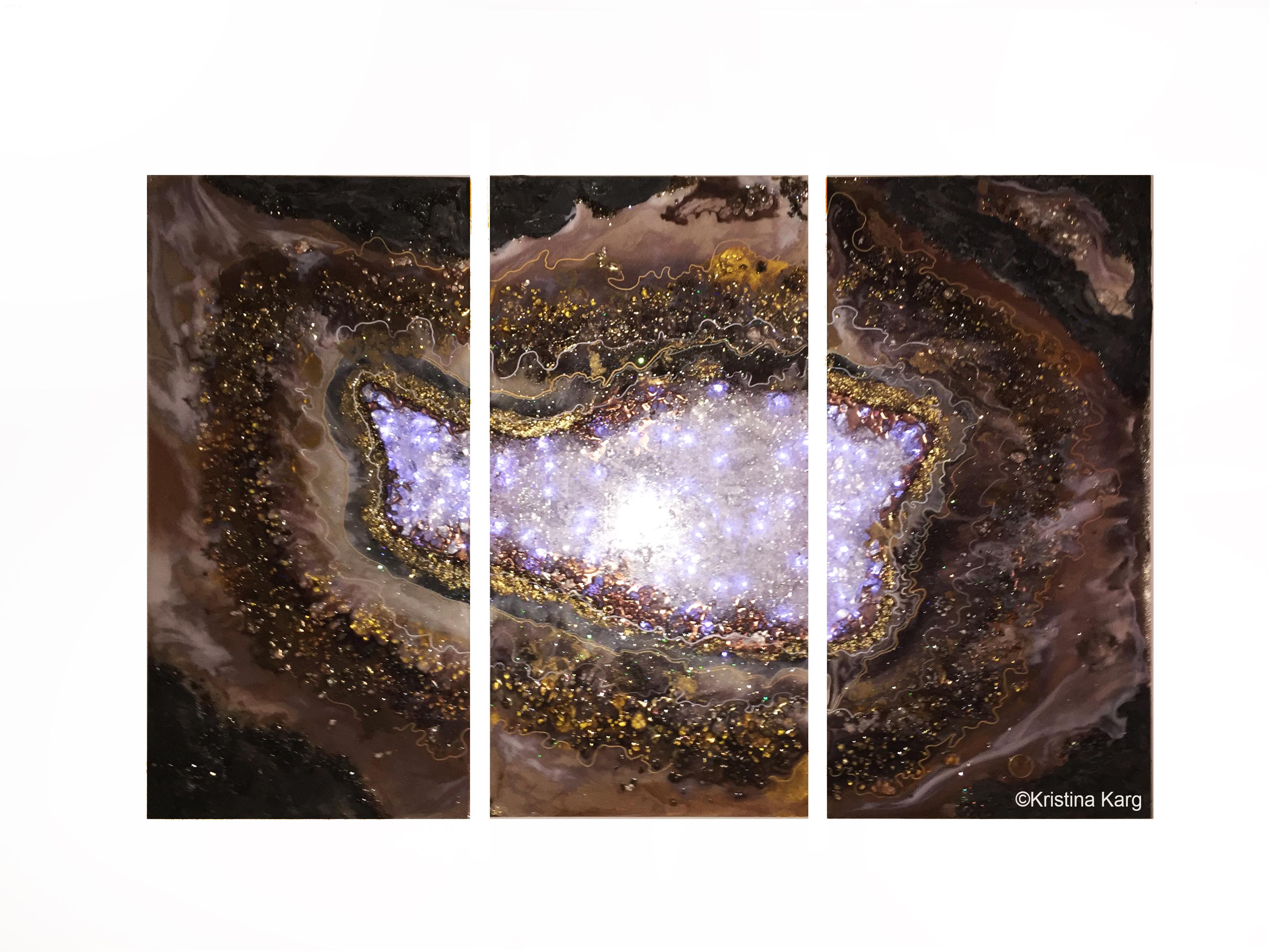 Geode tritych Wallart Kristina Karg