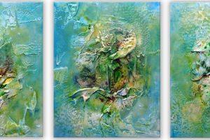 Triptychon 40x50 cm each Actylic on Canvas